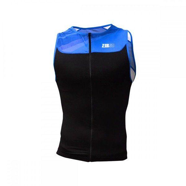 ZEROD Koszulka triathlonowa START TRISINGLET czarno-niebieska