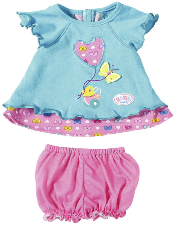 BABY born - Błękitna sukienka w zestawie z majteczkami 823552A
