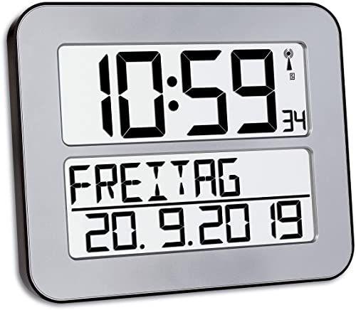 Tfa Dostmann 60.4512.01 Timeline Max Zegar Sterowany Radiowo, Srebrny