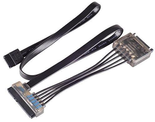 SilverStone SST-CP13  kabel adapterowy 15 pinów SATA przyłącze zasilania + 7-pinowe standardowe przyłącze danych SATA 22-pinowe przyłącze zasilania i danych, z kondensatorem 470uF i kontrolnym LED