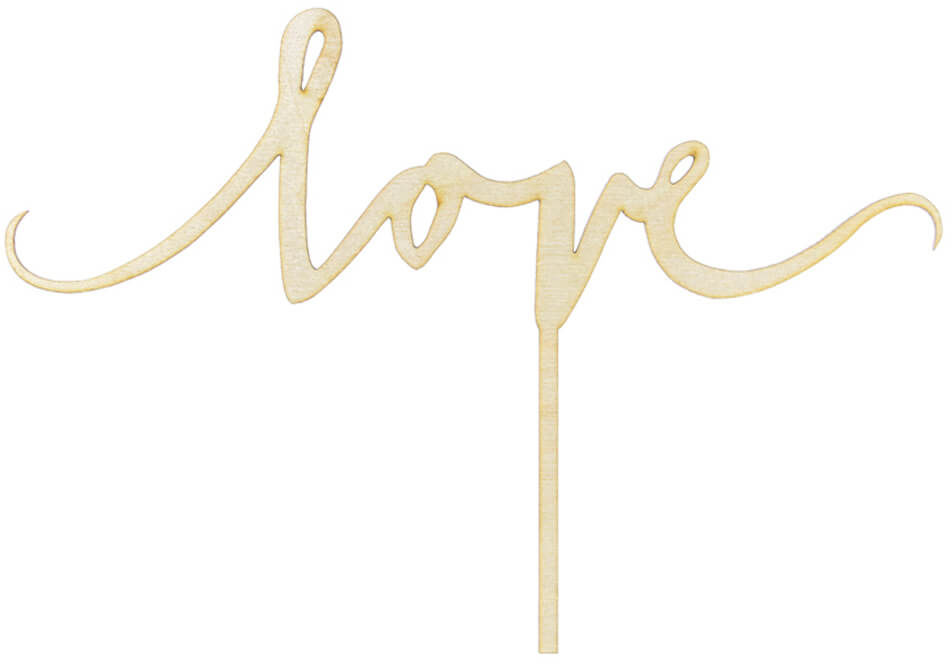 Topper na tort Love - 16 cm