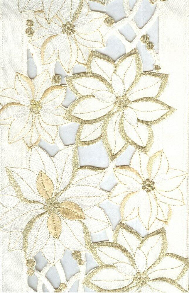 Obrus dekoracyjny Amy 20x160 święta Kremowy Eurofirany