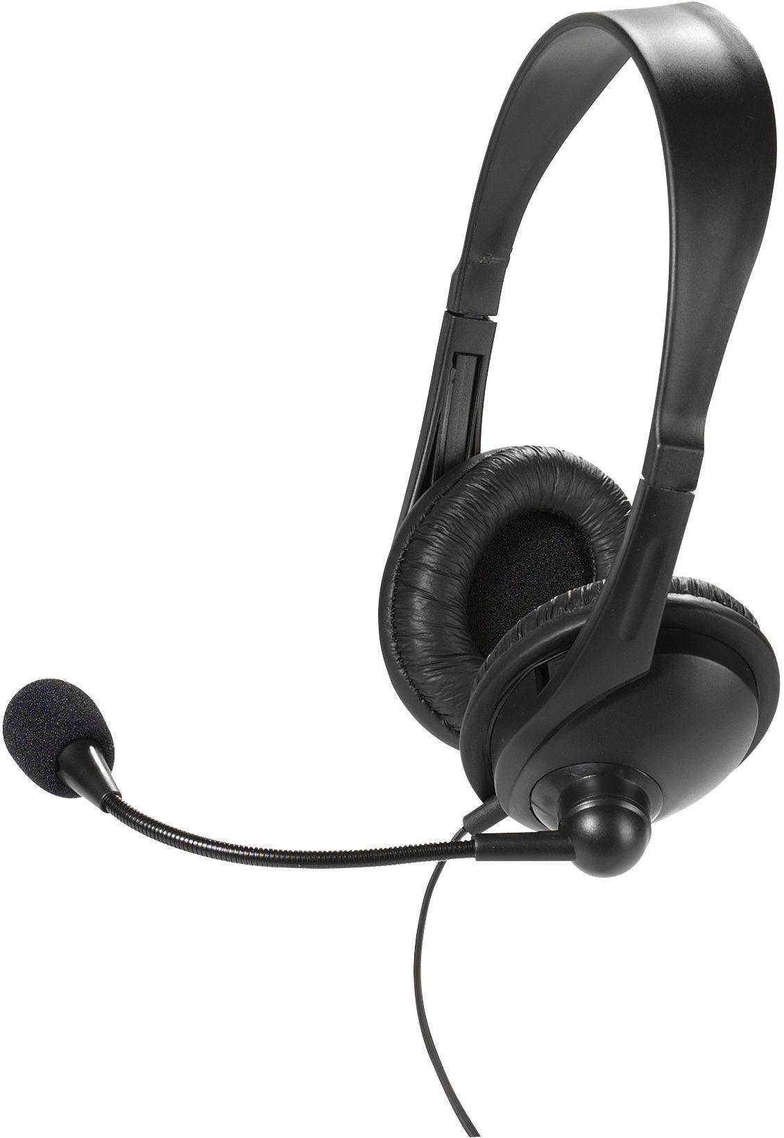 Vivanco IT-HS STEREO RC zestaw słuchawkowy stereo z pilotem zdalnego sterowania (otwieranie na ucho, regulator głośności), czarny