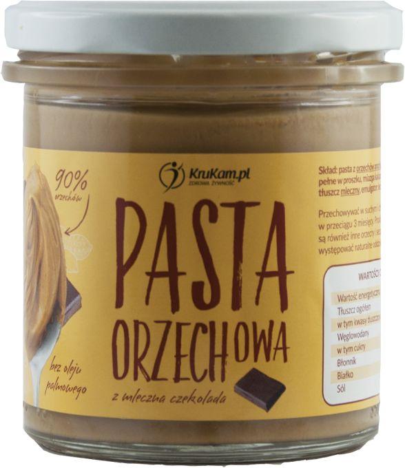 KruKam Pasta Orzechowa z Mleczną Czekoladą 300g
