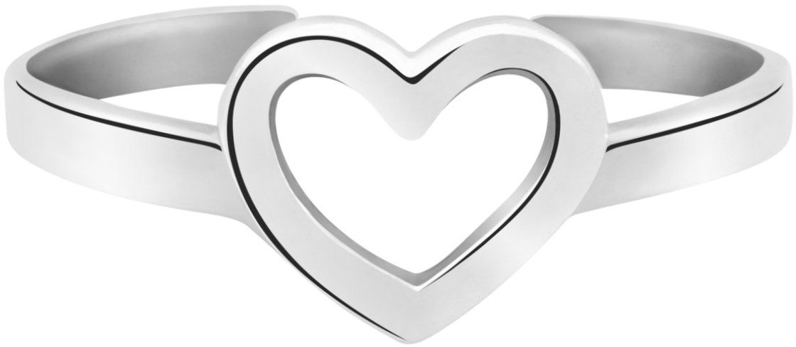 Pierścionek uniwersalny serce srebro 925