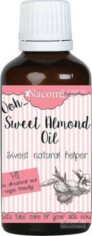 Nacomi - Sweet Almond Oil - Naturalny olej ze słodkich migdałów - Rafinowany - 50 ml