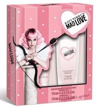 Katy Perry Zestaw prezentowy Mad Love Naturalny dezodorant perfumowany 75ml + żel pod prysznic 75ml