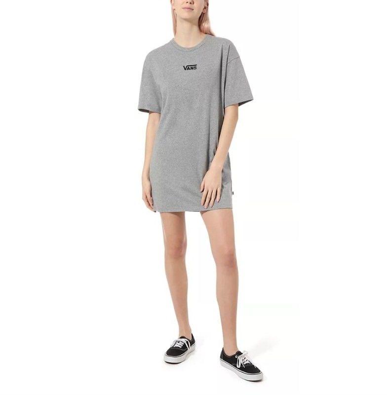 sukienka VANS - Center Vee Tee Dress Grey Heather (GRH)