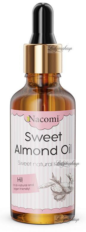 Nacomi - Sweet Almond Oil - Naturalny olej ze słodkich migdałów - Rafinowany - 50 ml Pipeta