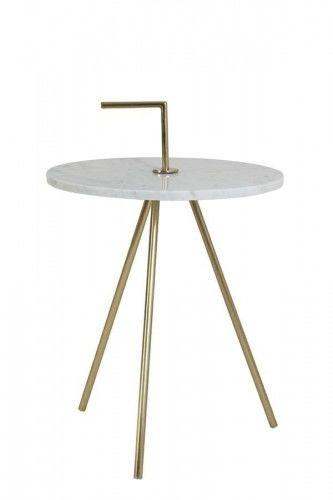 Stolik Moyuta biało złoty