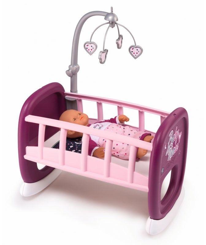 Smoby Baby Nurse - Kołyska z karuzelą dla lalki 220343