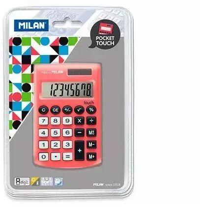 Kalkulator Pocket Touch czerwony MILAN
