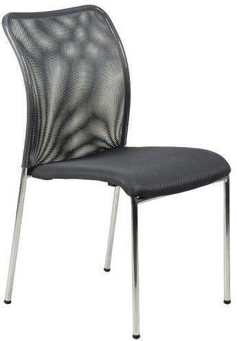 Krzesło konferencyjne HN-7502ch/GRAFIT. Stelaż chromowany. Krzesło biurowe - Stema
