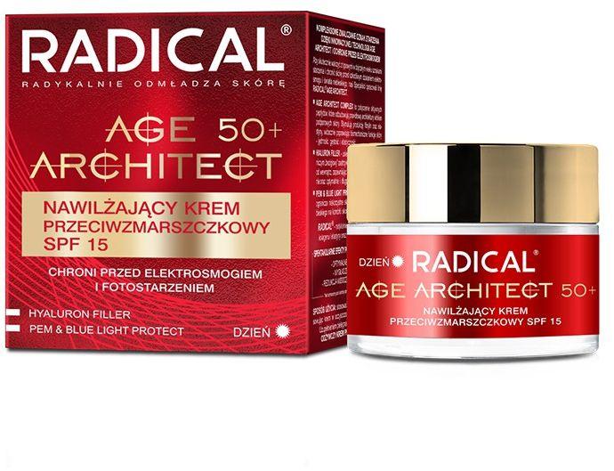 RADICAL AGE ARCHITECT 50+ Nawilżający krem przeciwzmarszczkowy SPF15, 50ml