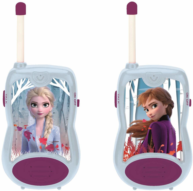Lexibook TW12FZ Disney Frozen 2 Elsa Anna Walkie-talkies, gra komunikacyjna dla dzieci, klips do paska do transportu, bateria, niebieski