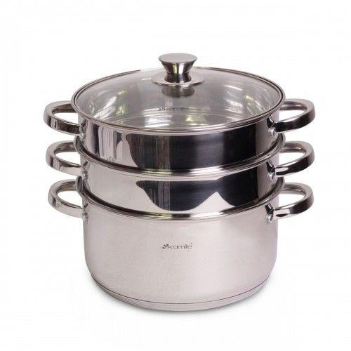 Garnek parowar do gotowania na parze 5,5L 4el.