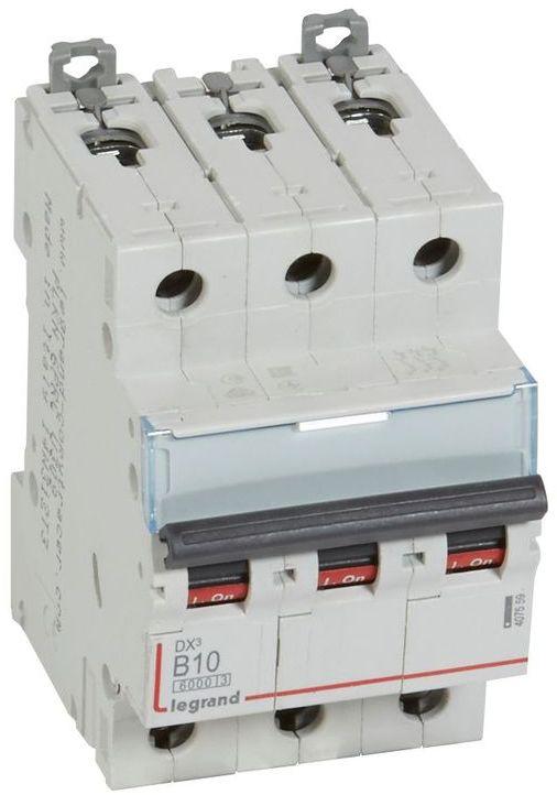 Wyłącznik nadprądowy 3P B 10A 6kA S303 DX3 407559