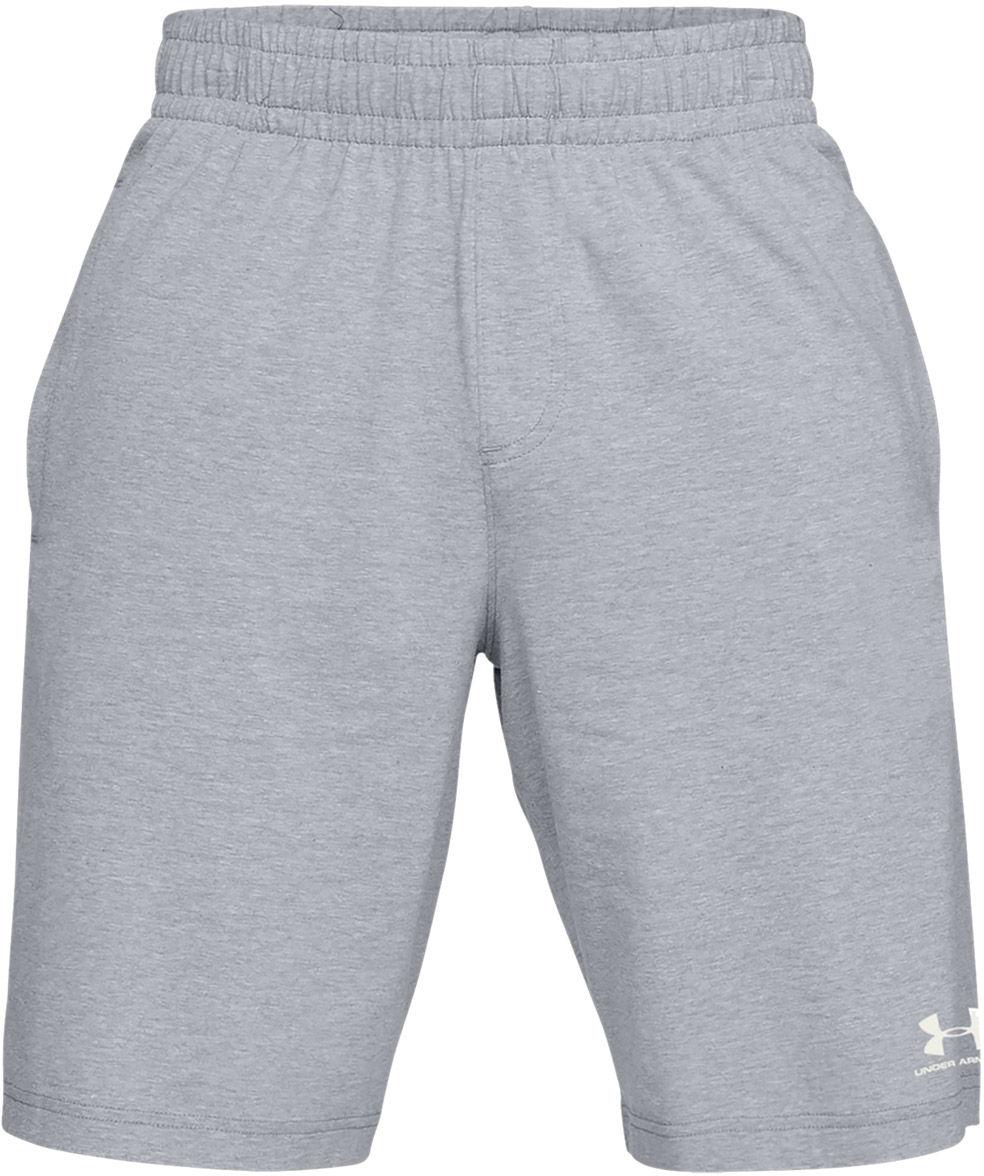 Szorty termoaktywne Under Armour SportStyle Cotton short szary melanż (1329299-035)