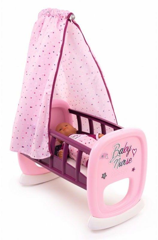 Smoby Baby Nurse - Kołyska z baldachimem 220338