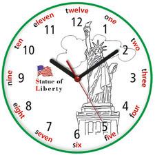 Zegar języki świata Statua Wolności