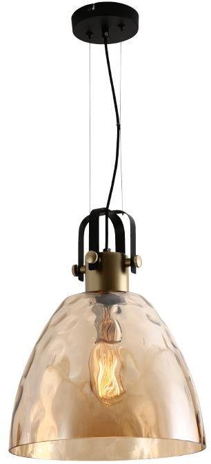 Lampex Lucio 636/1 lampa wisząca nowoczesna barwiony szklany klosz o niecodziennej bryle E27 MAX 1x60W 100cm