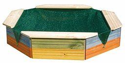Woodyland 130 x 130 x 27 cm, piaskownica z pokrywą ochronną (kolorowa