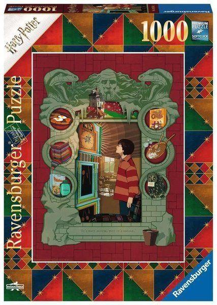 Puzzle 1000 Harry Potter w rodzinie Weasleyów - Ravensburger