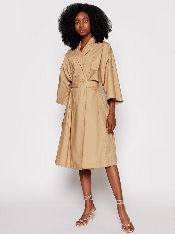 Imperial Sukienka koszulowa ABVNBGV Brązowy Regular Fit