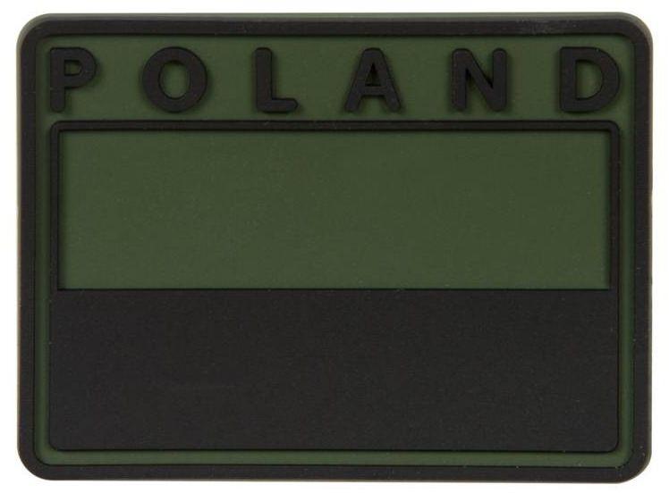 Emblemat velcro Helikon flaga Polska PVC gaszona Olive Green (OD-FP4-RB-02) H