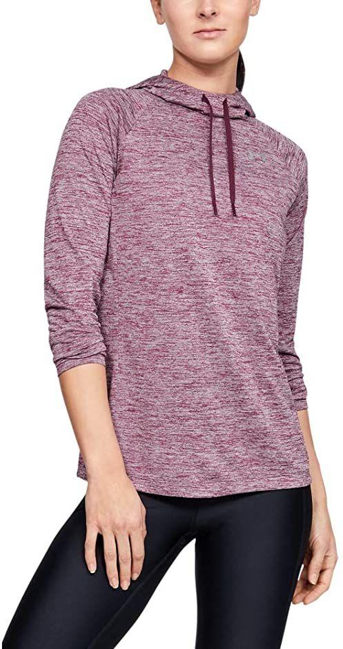 Under Armour damska koszulka z długim rękawem z kapturem 2.0 - Twist koszulka z długim rękawem Level Purple / Level Purple / Metallic Silver (569) M
