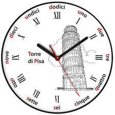 Zegar języki świata Krzywa Wieża