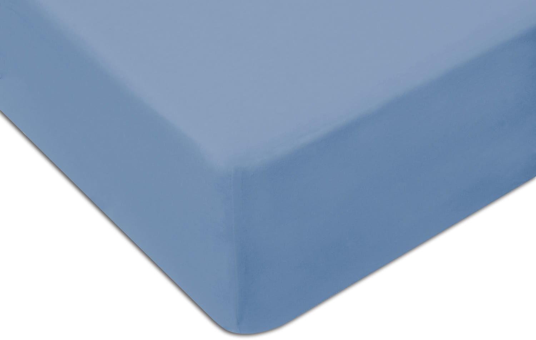 Prześcieradło Jersey 120x200 z gumką kolor niebieski