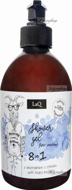 LaQ - SHOWER GEL FOR MEN 8 IN 1 - Żel pod prysznic dla facetów 8 w 1 - 500 ml