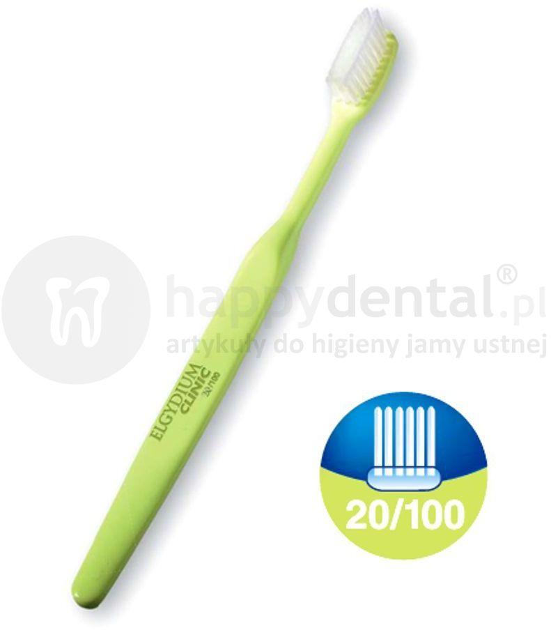 ELGYDIUM Clinic Care 20/100 szczoteczka do zębów miękka do codziennej pielęgnacji po zabiegu