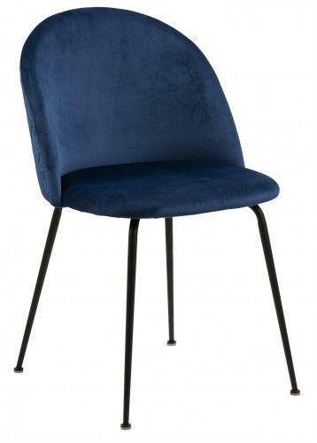 Krzesło Louis granatowe/ szare/ czarne Actona