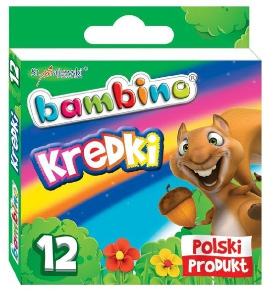 Kredki Bambino 12 kolorów (mix wzorów opakowań)