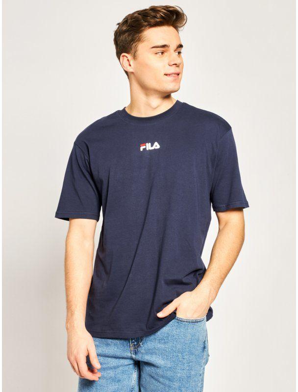 Fila T-Shirt Bender 687484 Granatowy Regular Fit