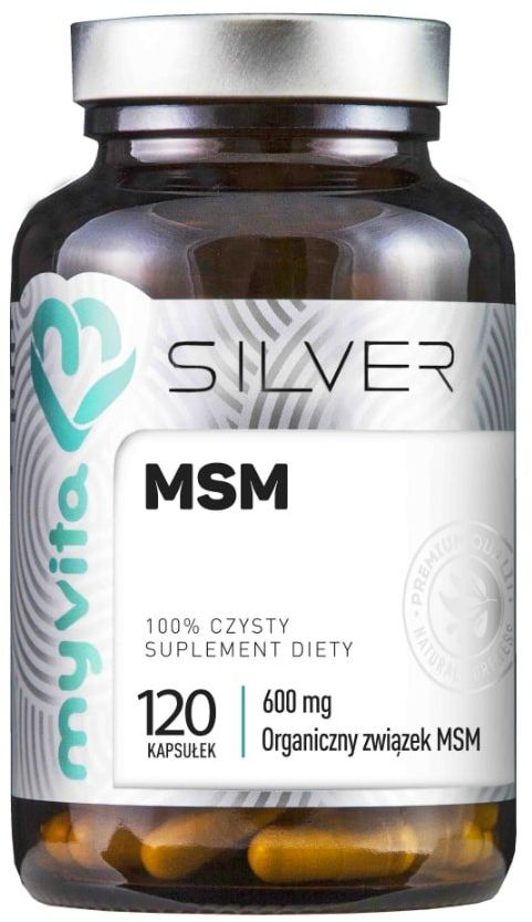 MSM Metylosulfonylometan Siarka organiczna 600 mg (120 kaps) Silver Myvita