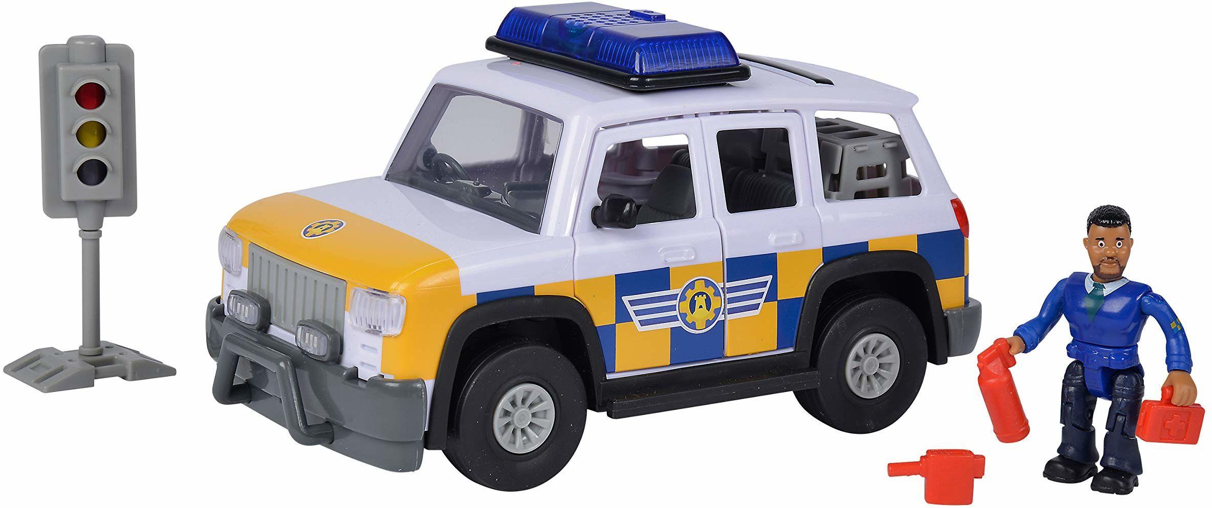 Simba 109251096038 Strażak Sam Jeep Policyjny Z Figurką 109251096038