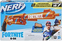 Wyrzutnia strzałek Nerf Fortnite 6-SH, skórka Camo Pulse, zbrojenie typu hammer action, 6-strzałkowy magazynek obrotowy, dołączono 6 oryginalnych strzałek Nerf Elite