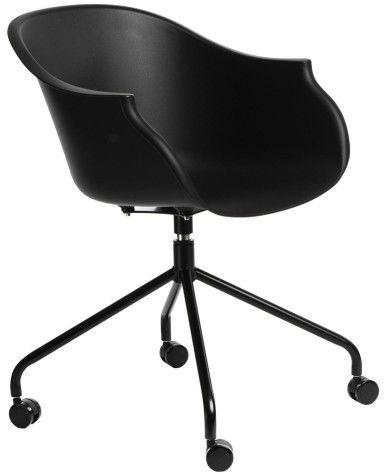 Krzesło na kółkach Roundy czarne