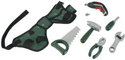 Theo Klein 8313 Bosch pas narzędziowy I z młotkiem, szczypcami, piłą i wieloma innymi, Ixolino II zasilany bateriami I wymiary: 76 cm x 24 cm 4,5 cm I zabawka dla dzieci od 3 lat