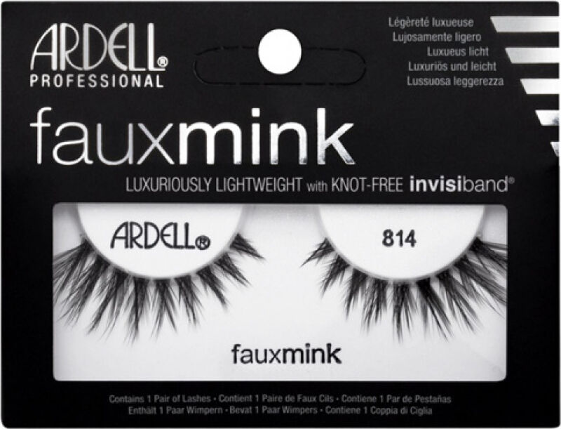 ARDELL - FAUX MINK - Luxuriously Lightweight with invisiband - Sztuczne rzęsy na pasku - 814