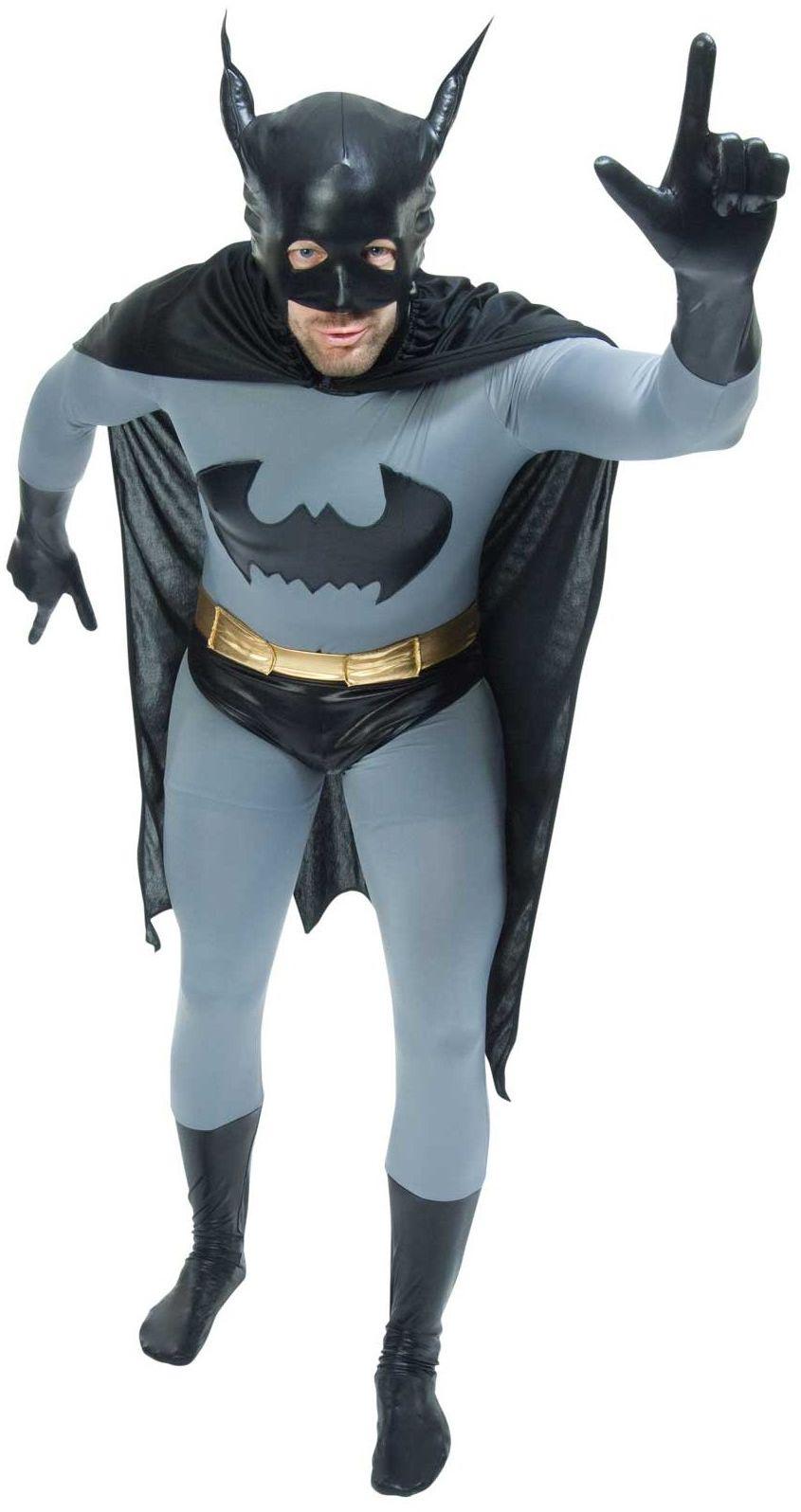 Zoelibat 97216545.006.L - Speedsuit Batman The Dark Knight - Unisex kombinezon całego ciała Bodysuit Catsuit, wielokolorowy