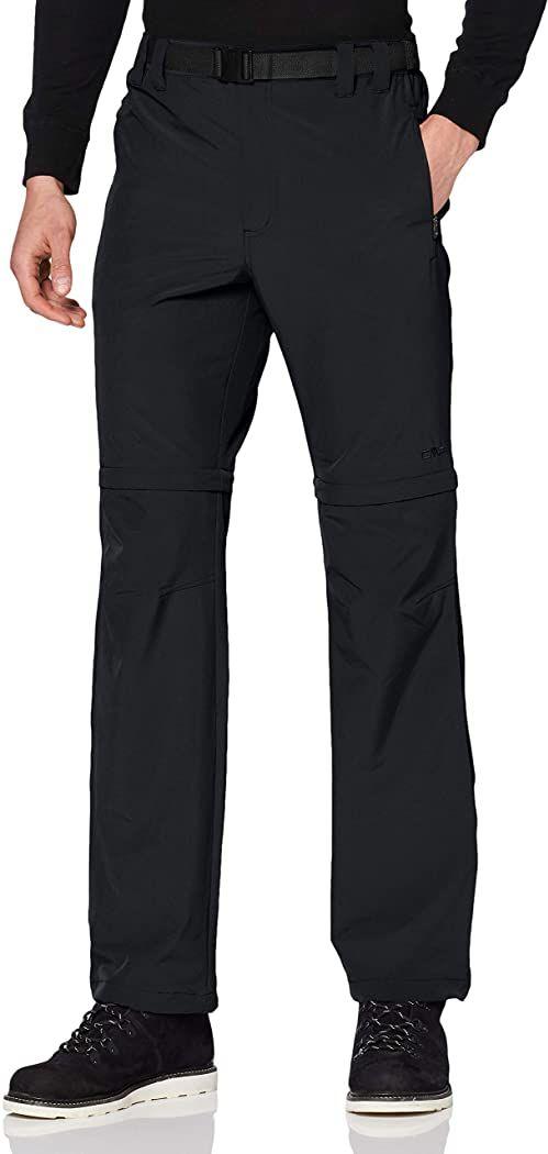 CMP Męskie spodnie z odpinanymi nogawkami szary Grau(antracite) 46