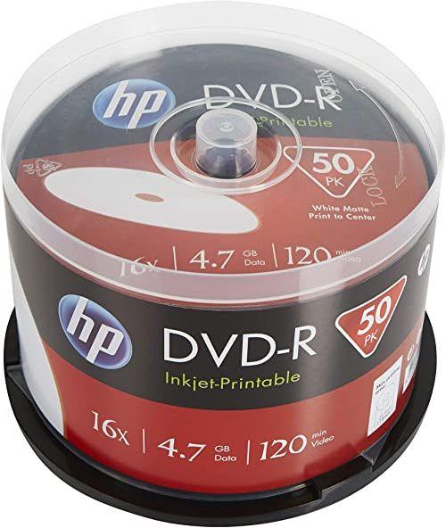 HP DVD-R IJ PRINT 16X 50PK pudełko HP 4,7 GB
