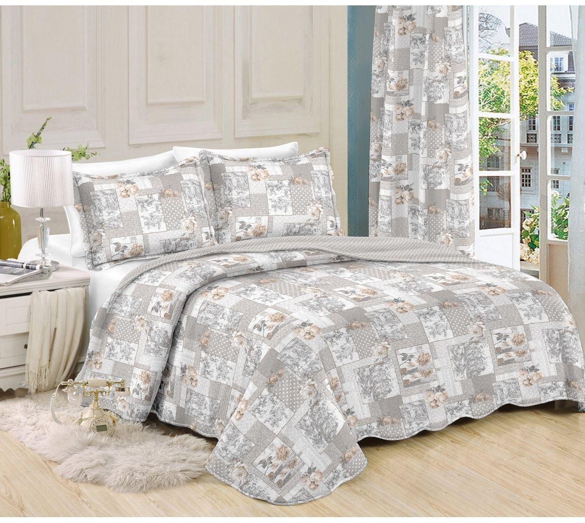 Narzuta na łóżko Patchwork Ina, 140 x 200 cm, 1 szt. 50 x 70 cm, 140 x 200 cm