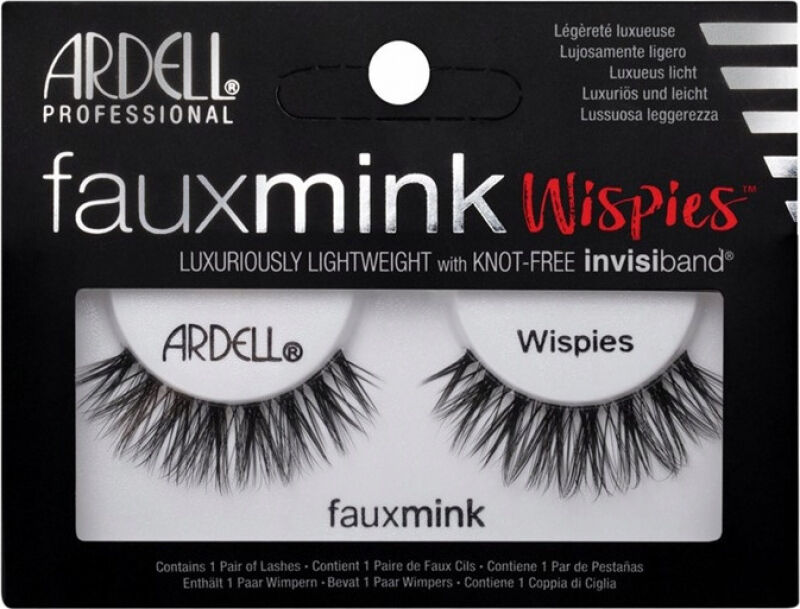ARDELL - FAUX MINK - Luxuriously Lightweight with invisiband - Sztuczne rzęsy na pasku - WISPIES