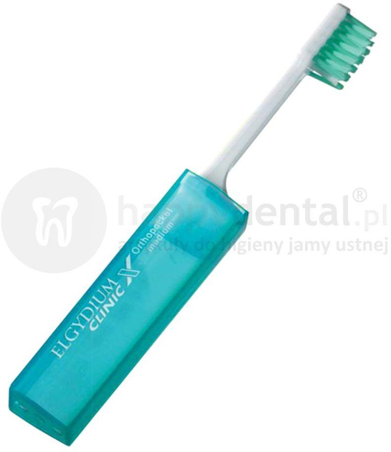 ELGYDIUM Clinic X Ortho-Pocket szczoteczka ortodontyczna podróżna (turystyczna)