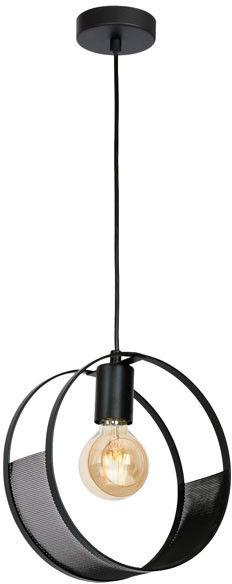 Lampa wisząca Luminex Siner 1 x 60 W E27 czarna